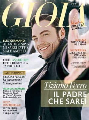 Tiziano Ferro in copertina su Gioia