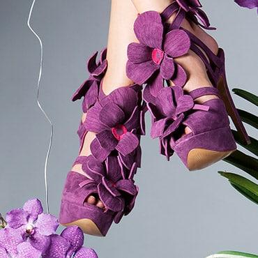 Orchid Shoe by Jan Jansen, la scarpa ispirata alle orchidee