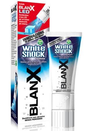 Il dentifricio sbiancante BlanX White Shock