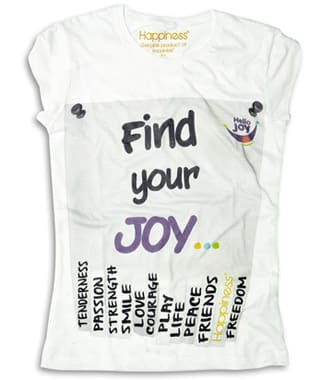 T-shirt Hello Joy by Happiness Brand per Fondazione Theodora Onlus