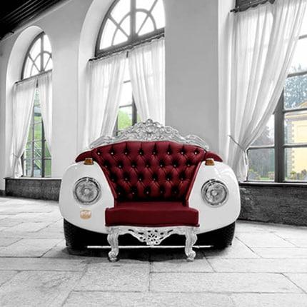 Glamour Beetle, l'esclusiva poltrona di ZAC Glamour Design