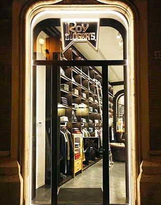 Il negozio Roy Roger's di Roma