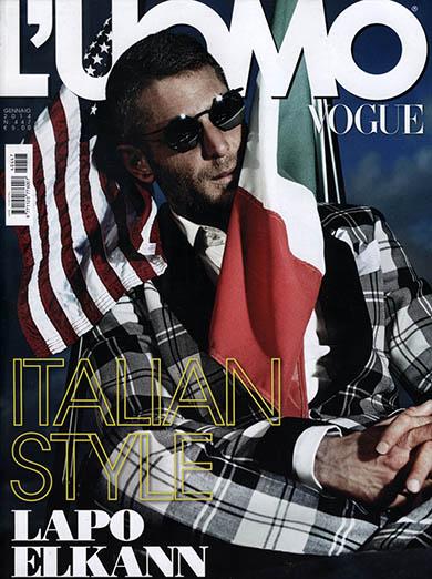 Lapo Elkann su L'Uomo Vogue
