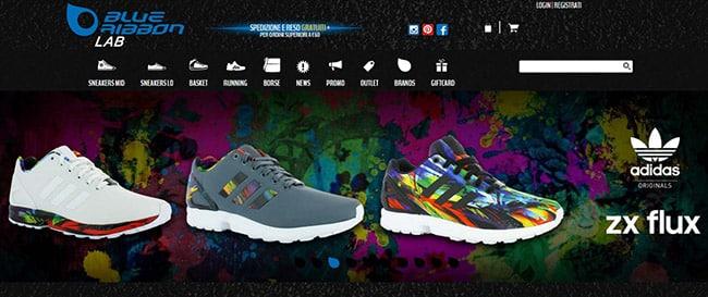 BlueRibbonLab, e-commerce sneakers online