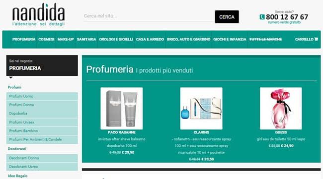 I migliori profumi su Nandida.com