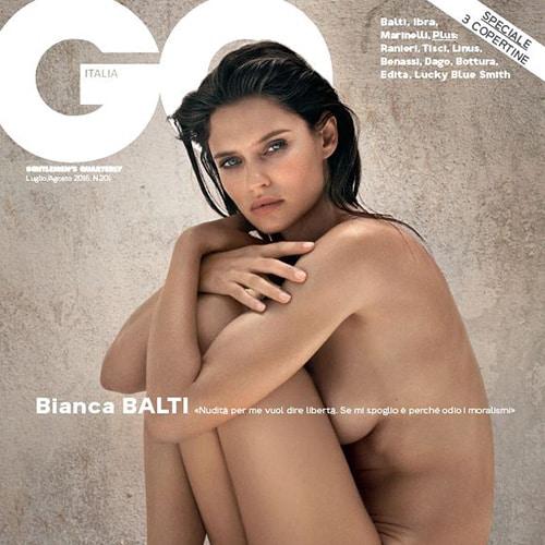 Bianca Balti senza veli per GQ Italia