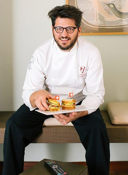 lo chef Tommaso Arrigoni del ristorante Innocenti evasioni di Milano