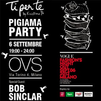 Pigiama party e Bob Sinclar per la VFNO di OVS