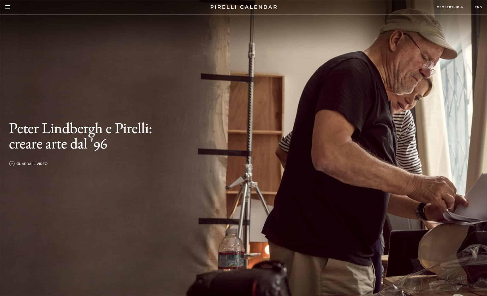 www.pirellicalendar.com - Il nuovo sito del Calendario Pirelli