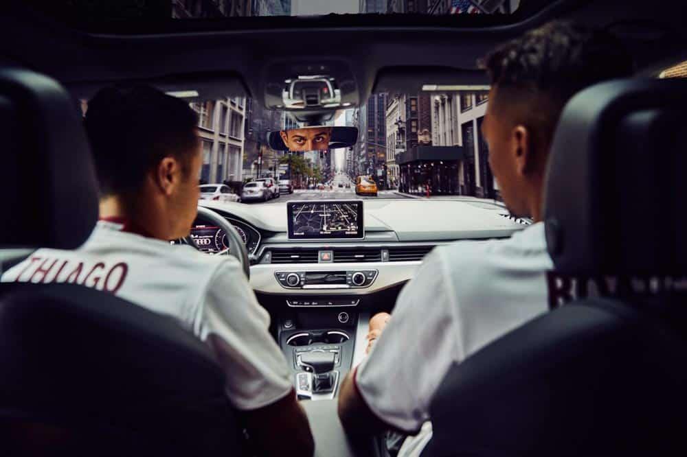 Audi Connect e i campioni del Bayern Monaco tra le strade di New York