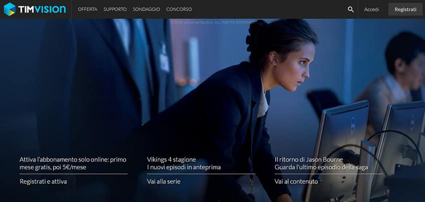 TIMvision, la tv on demand di TIM