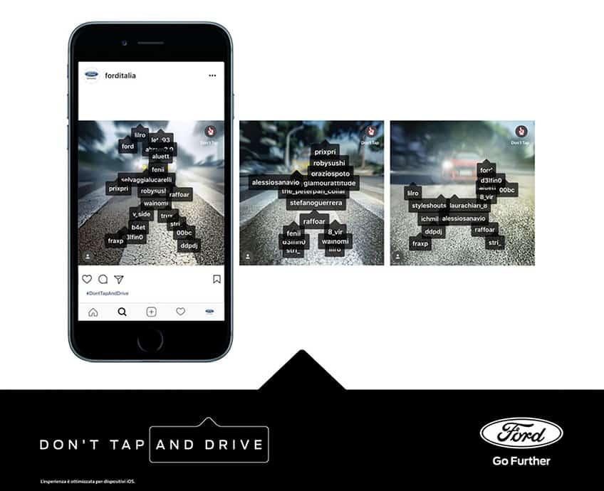 """""""Don't Tap And Drive"""", la campagna Ford Italia per la guida responsabile"""