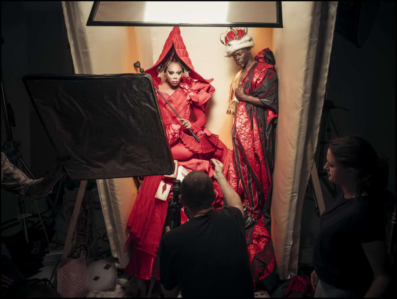 Backstage The Cal Shoot by Tim Walker