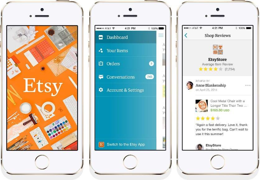 L'app Etsy