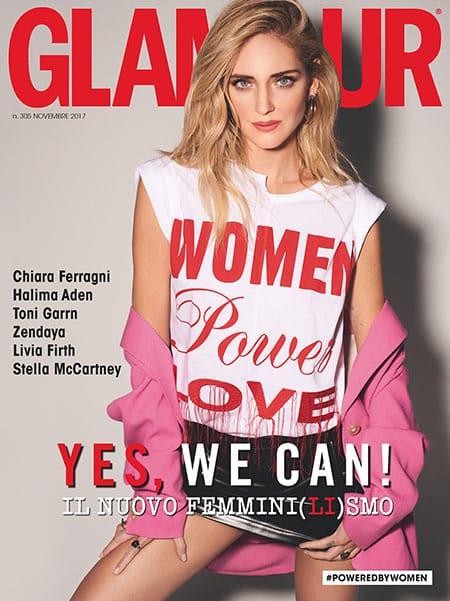 Chiara Ferragni in copertina su Glamour