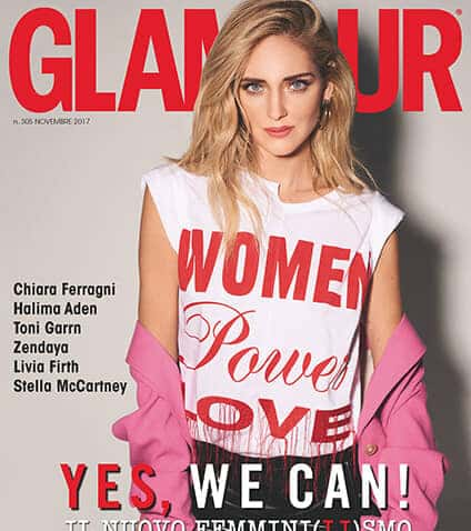 """Glamour lancia il manifesto del """"femminilismo"""" con Chiara Ferragni in copertina"""