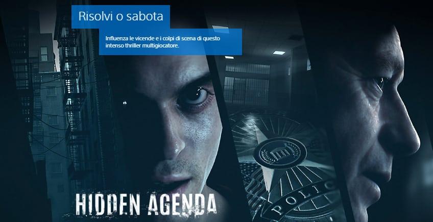 Hidden Agenda, il nuovo gioco per Playlink PS4