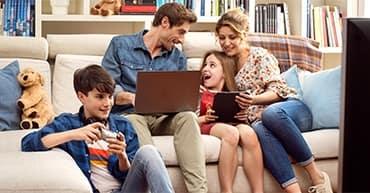 Connessione internet per famiglia
