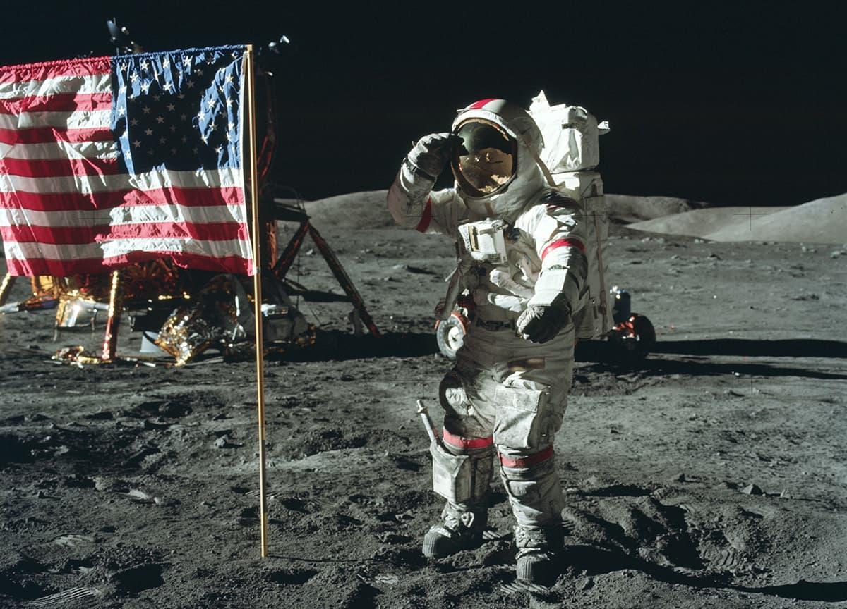 Astronauta sulla Luna durante la missione Apollo 17