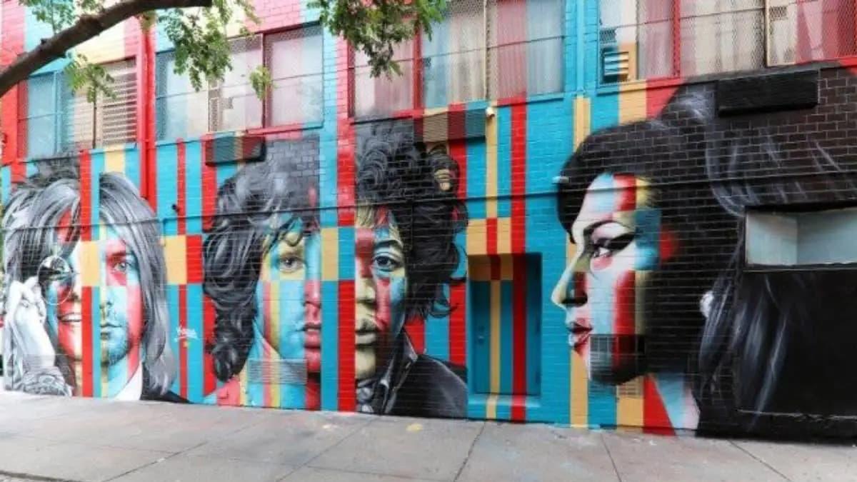 Murales dedicato al Club dei 27