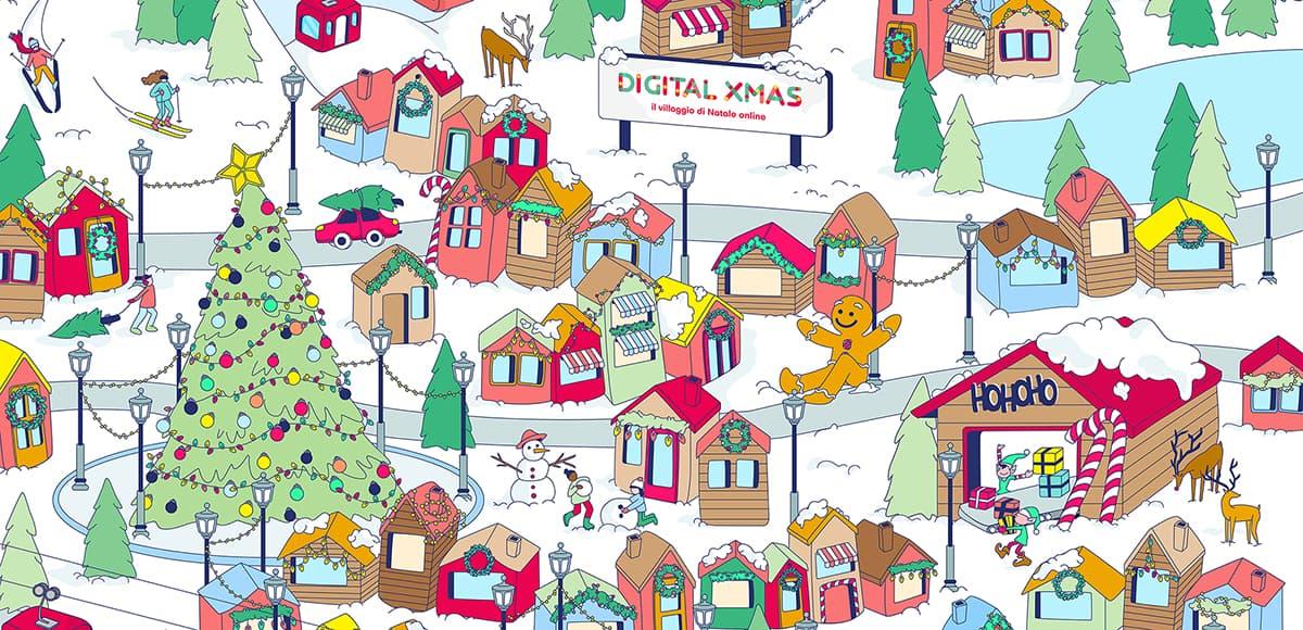 villaggio di Natale digital