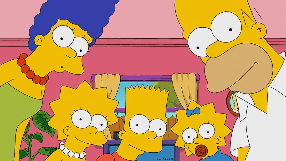 la famiglia Simpson
