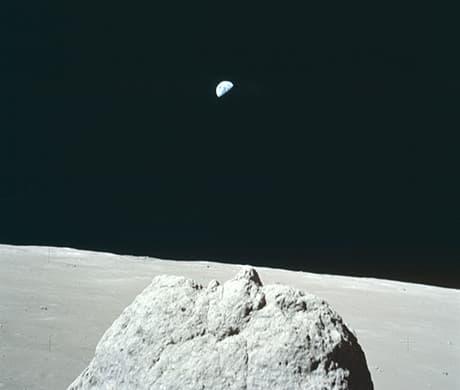 Il pianeta Terra visto dalla Luna
